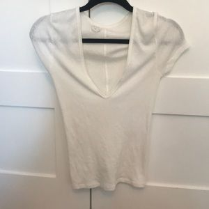 Low neck white t shirt